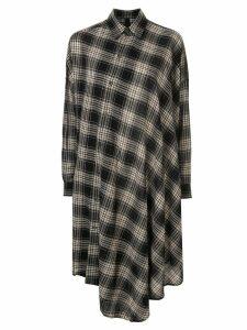 Forme D'expression asymmetirc shirt dress - Black