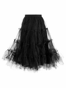 Rundholz Black Label mesh detail tiered skirt