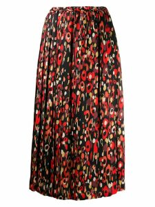 Junya Watanabe printed pleated skirt - Black