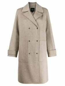 Theory double breasted coat - Grey