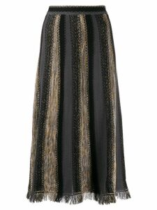 M Missoni patterned knit midi skirt - Black