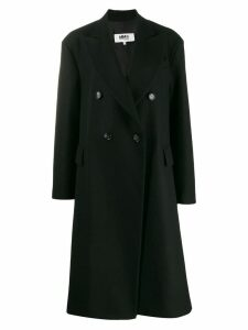 Mm6 Maison Margiela oversized double breasted coat - Black