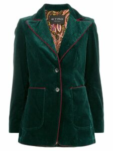 Etro corduroy single-breasted blazer - Green