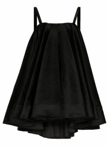 Shushu/Tong velvet trapeze dress - Black