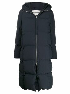 Jil Sander oversized padded coat - Blue