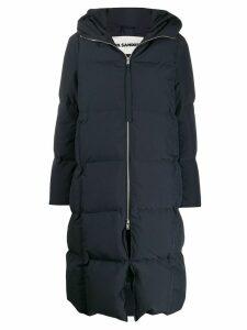 Jil Sander oversized padded coat - Blue