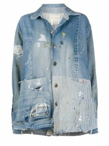 Greg Lauren boxy studio jacket - Blue