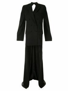 Seen Users layered blazer dress - Black