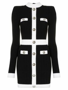 Balmain button front knitted dress - Black