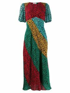 Rixo Amber giraffe print dress - Red