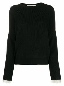 Philosophy Di Lorenzo Serafini long-sleeve knitted sweater - Black