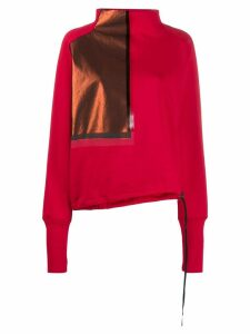 ILARIA NISTRI contrast patch sweatshirt - Red