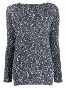 Snobby Sheep round-neck knit sweater - Black