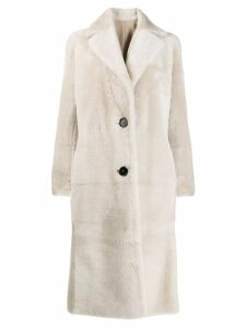 Antonelli reversible leather coat - Neutrals