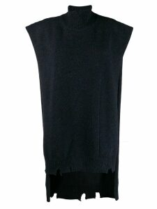 Maison Margiela roll neck tabard - Blue