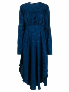 Stella McCartney horses jacquard midi dress - Blue