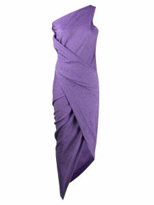 Vivienne Westwood Anglomania one-shoulder ruched dress - Purple