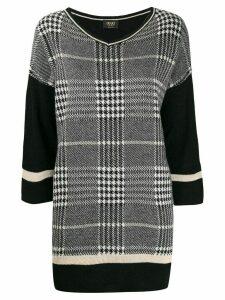 LIU JO houndstooth knit jumper - Black