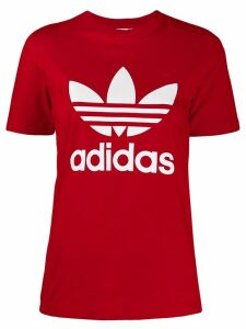 Adidas logo print T-shirt - Red