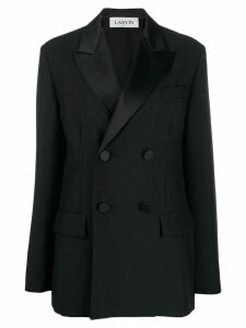LANVIN tailored double-breasted blazer - Black