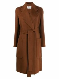 Acne Studios belted midi coat - Brown