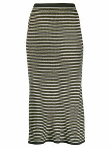 Tommy Hilfiger Tommy x Zendaya stripped knitted skirt - Black
