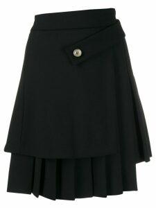 Off-White asymmetric pleated mini skirt - Black