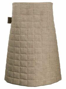 Bottega Veneta quilted A-line skirt - Neutrals