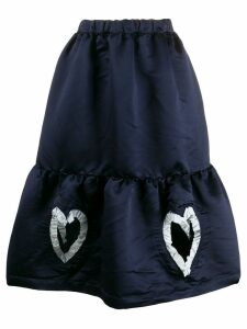 Comme Des Garçons Girl heart detailed skirt - Blue