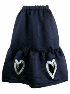Comme Des Garçons Girl heart detailed skirt - Blue