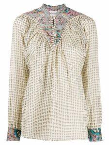 Antik Batik mixed-print tunic blouse - Neutrals