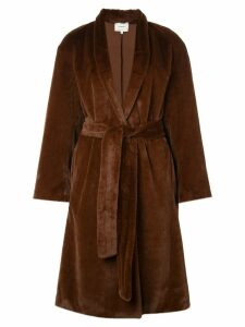 Vince belted faux-fur coat - 206MGY