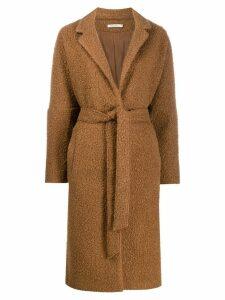 Mes Demoiselles tie-waist coat - Brown