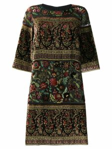 Etro velour appliqué dress - Black