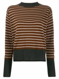 Sofie D'hoore striped knit sweater - Brown