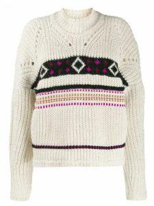 Isabel Marant intarsia-knit jumper - Neutrals