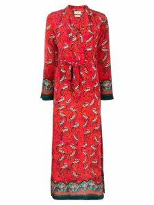 Chufy printed maxi dress - Red