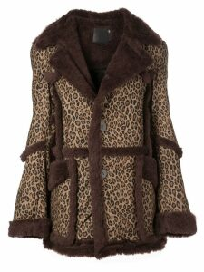 R13 leopard-print coat - Brown