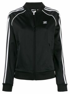 Adidas logo stripe sports jacket - Black