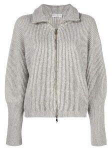 Brunello Cucinelli zip up cardigan - Grey