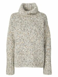 Beau Souci chunky roll-neck sweater - White
