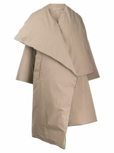 Dusan mid-length oversized coat - Neutrals