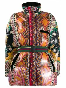 Etro abstract duck down puffer jacket - Black