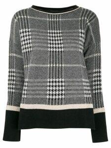 LIU JO check knit jumper - Black