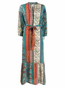 Chufy printed maxi dress - Blue