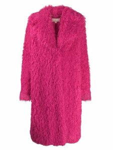 Michael Kors Collection textured furry coat - Pink