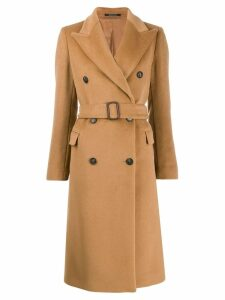 Tagliatore wide lapel double-breasted coat - Brown