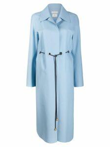 Bottega Veneta cord belted coat - Blue