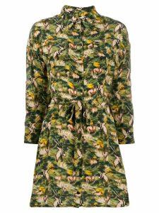 Chufy printed shirt dress - Green