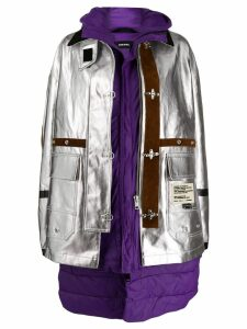 Diesel metallic double-layer parka - Silver